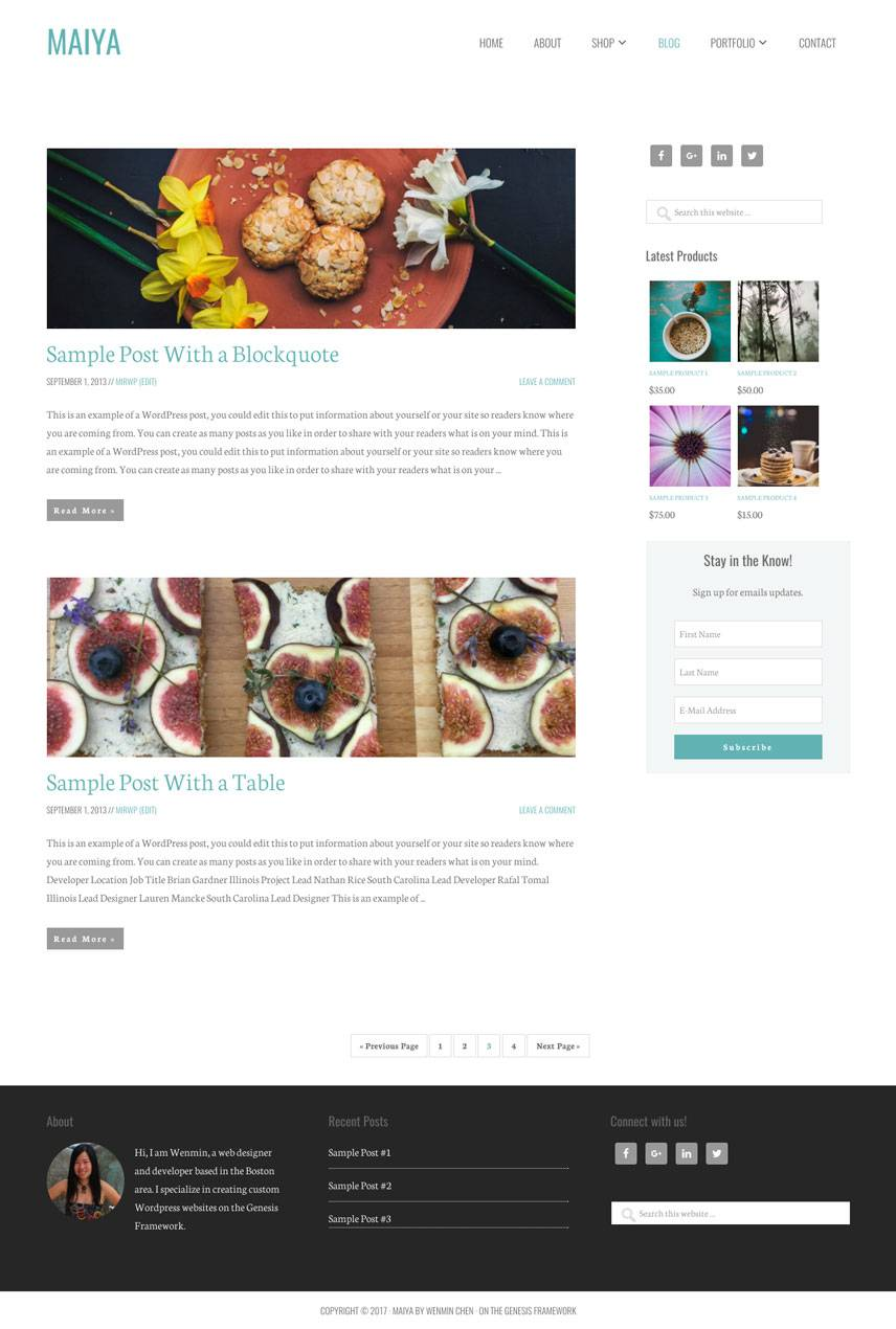 Maiya Theme - Blog | by Wenmin Chen, Boston freelance web developer & designer