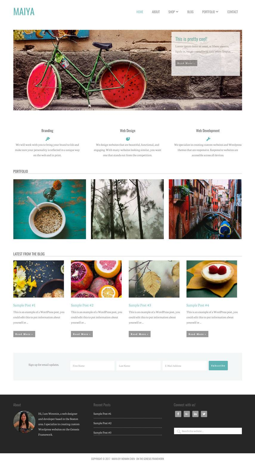 Maiya Theme - Home | by Wenmin Chen, Boston freelance web developer & designer