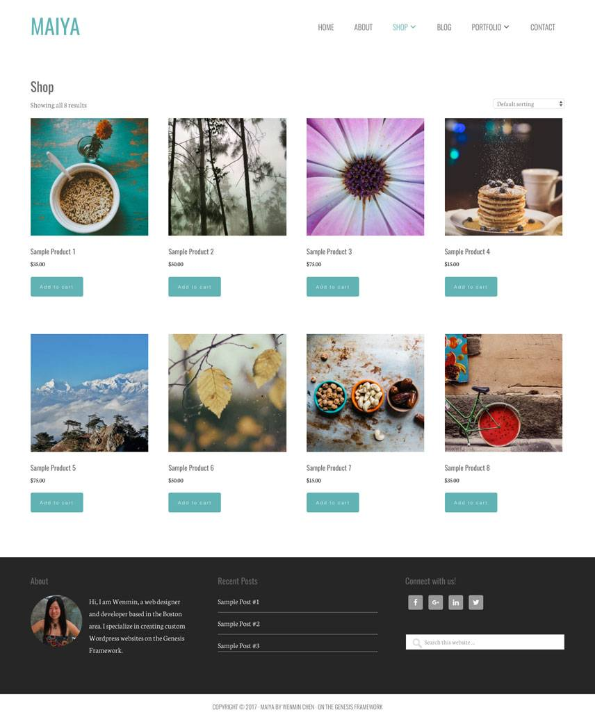 Maiya Theme - Shop | by Wenmin Chen, Boston freelance web developer & designer