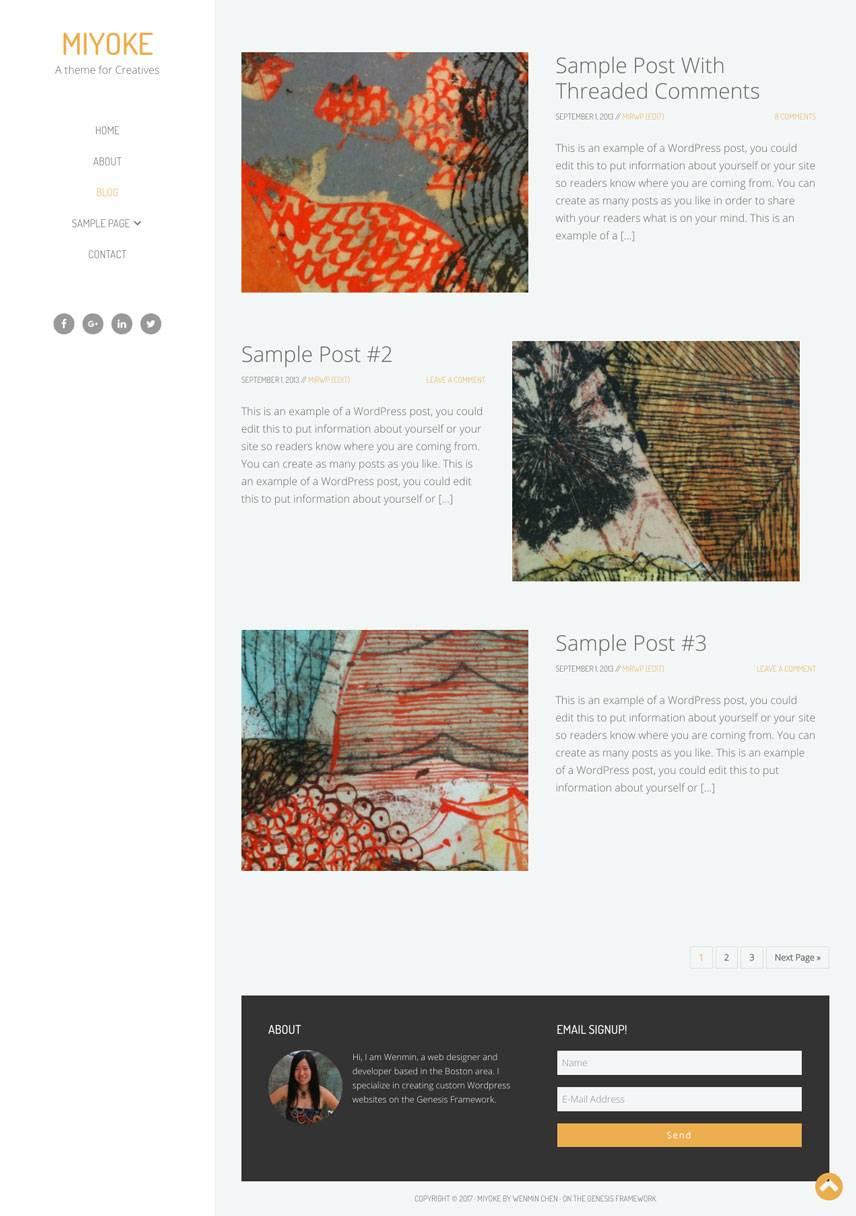 Miyoke Theme - Blog | by Wenmin Chen, Boston freelance web developer & designer