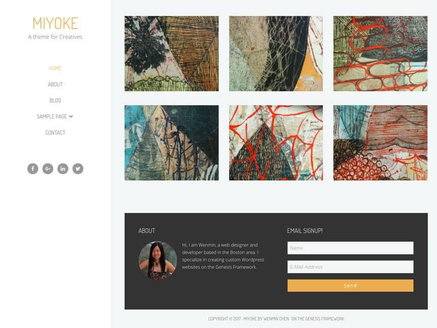 Miyoke Theme - Home | by Wenmin Chen, Boston freelance web developer & designer