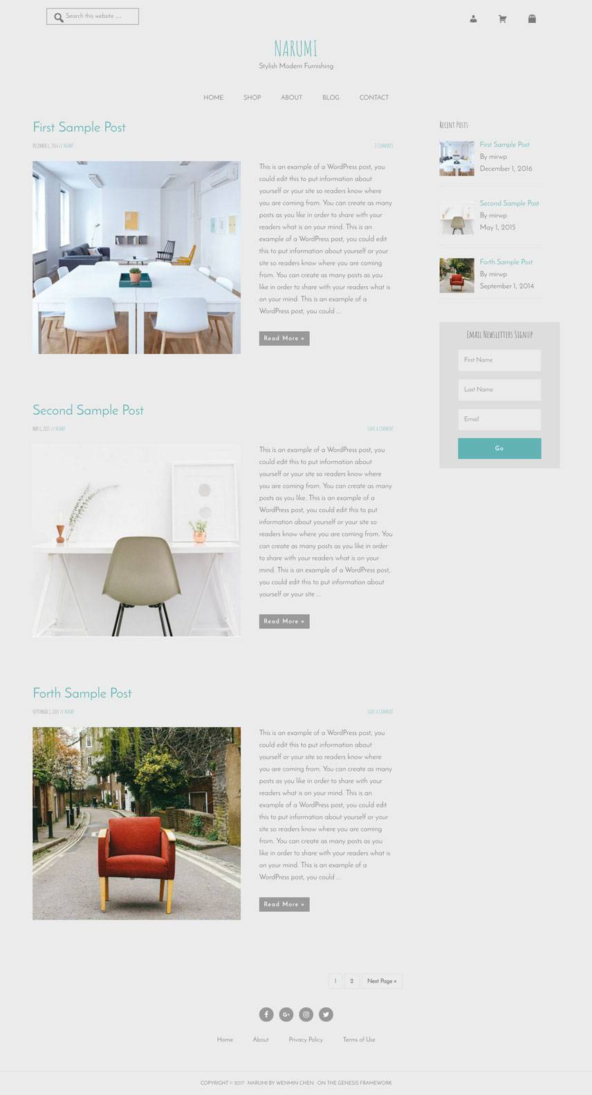 Narumi Theme - Blog | by Wenmin Chen, Boston freelance web developer & designer