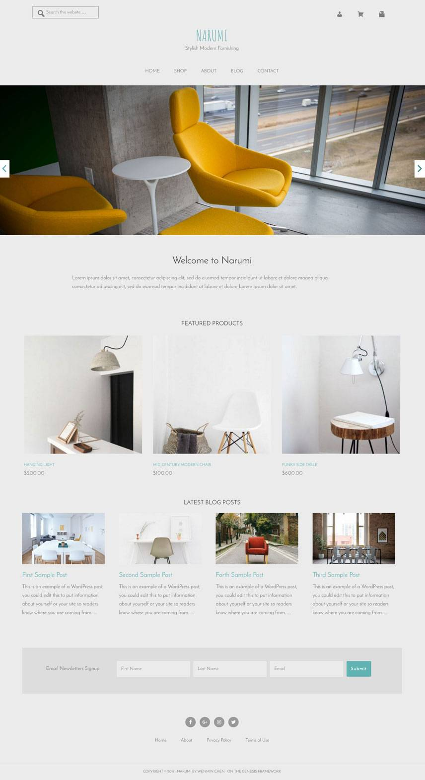 Narumi Theme - Home | by Wenmin Chen, Boston freelance web developer & designer
