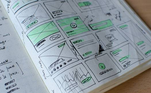 Photo depicting wireframes used in ux design