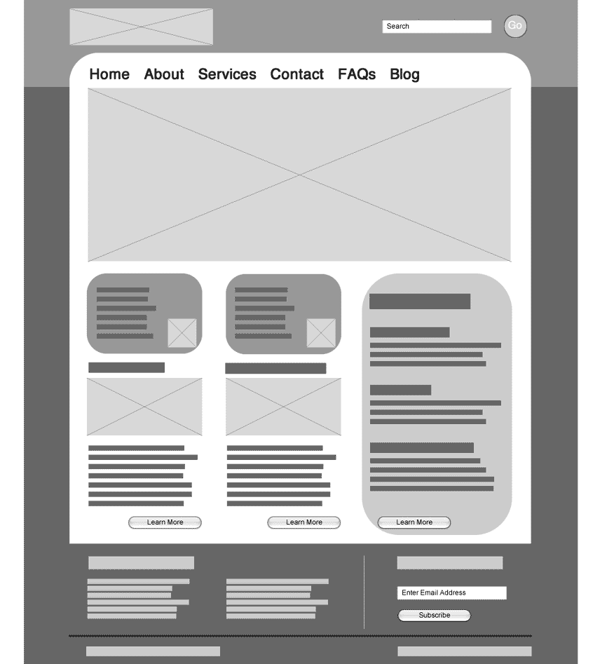 Wireframe example by Wenmin Chen