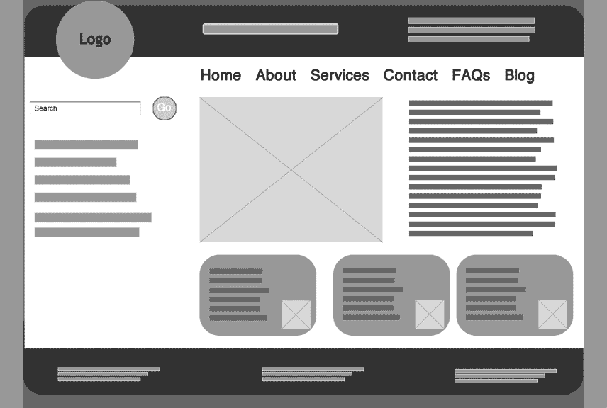 Wireframe example by Wenmin Chen by Wenmin Chen