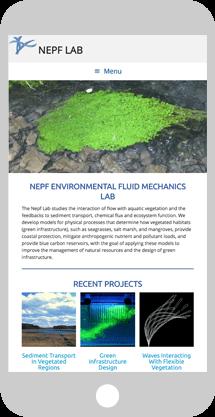 Nepf Lab phone screen demo